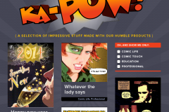 Ka-pow! A gallery of work created with Comic Life and Comic Touch