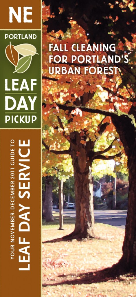 Portland Leaf Day mailer (Gyroscope Creative)