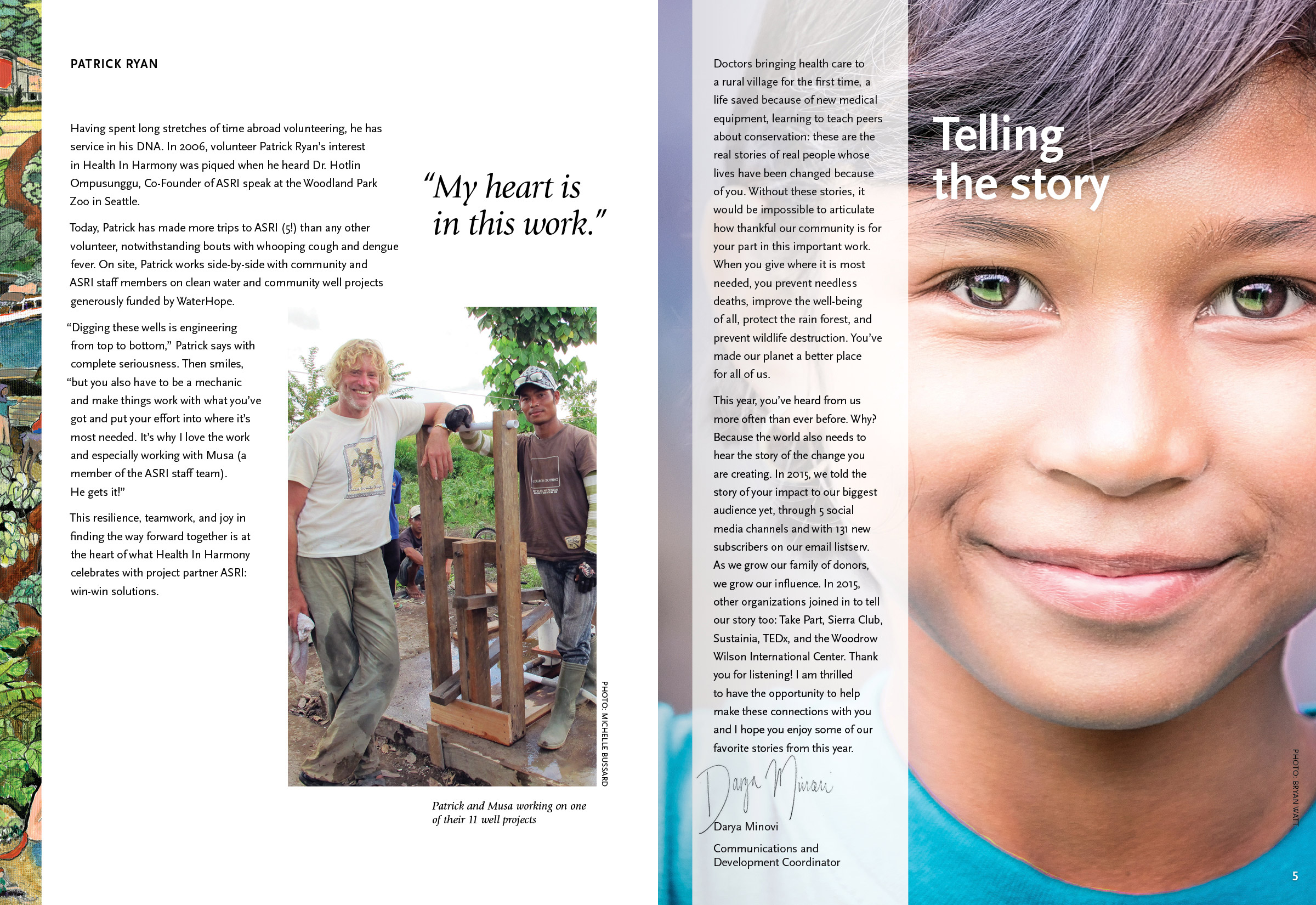 Health in Harmony Annual Appeal, designed by Gyroscope Creative