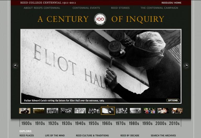 Reed Centennial's website landing page