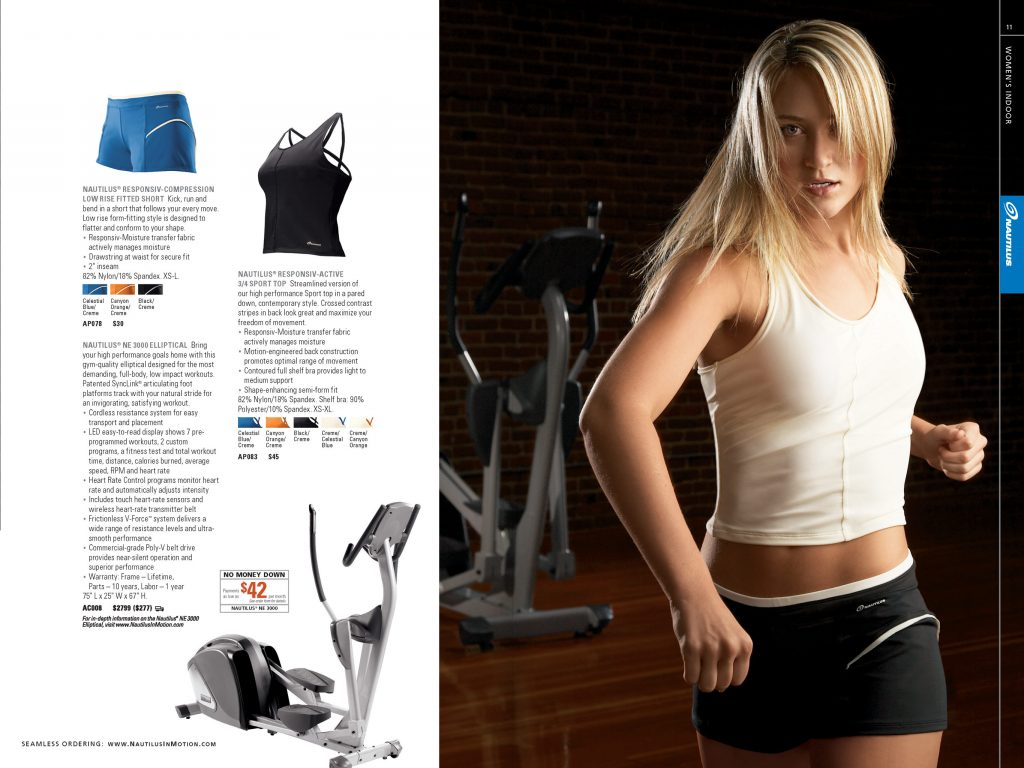 Nautilus Apparel Catalog: Women's Indoor (Creative Director: Matt Giraud)