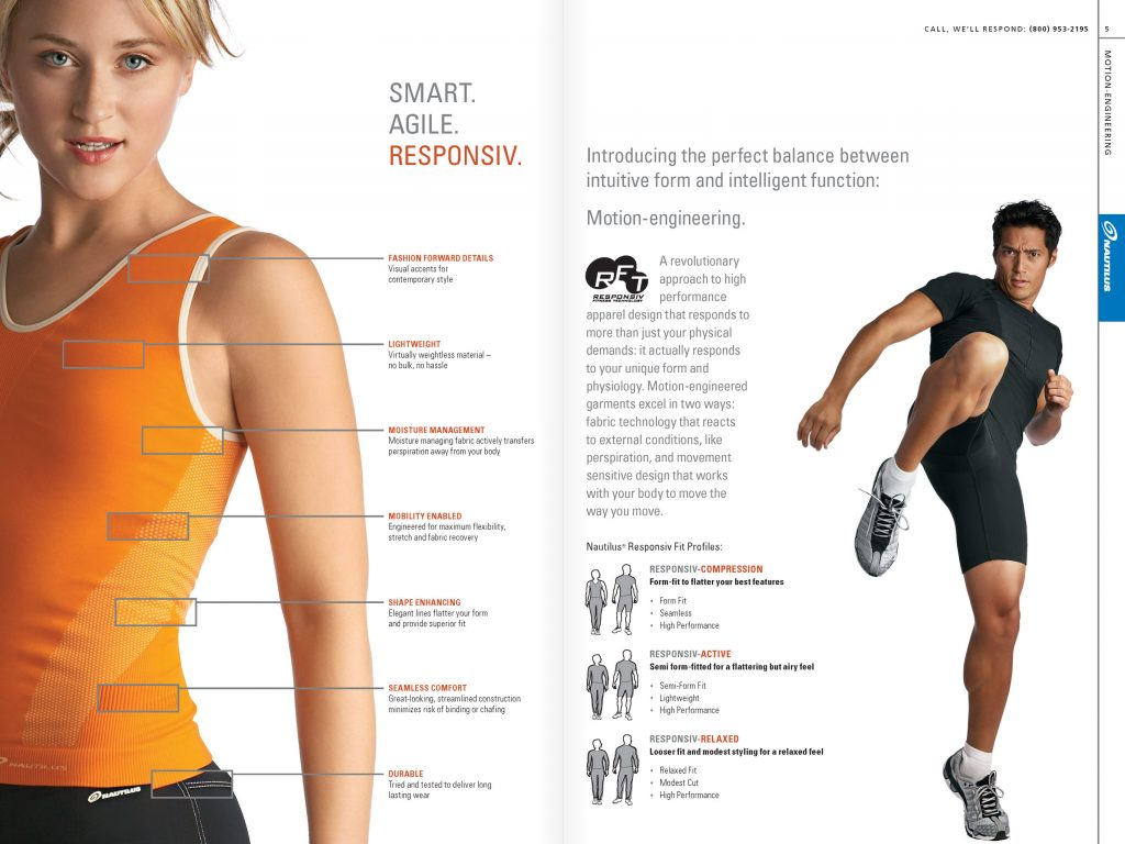 Nautilus Apparel Catalog: Technology (Creative Director: Matt Giraud)