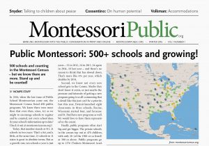 MontessoriPublic News first edition front page (Gyroscope Creative)
