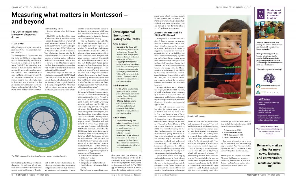 MontessoriPublic News interior spread (Gyroscope Creative)