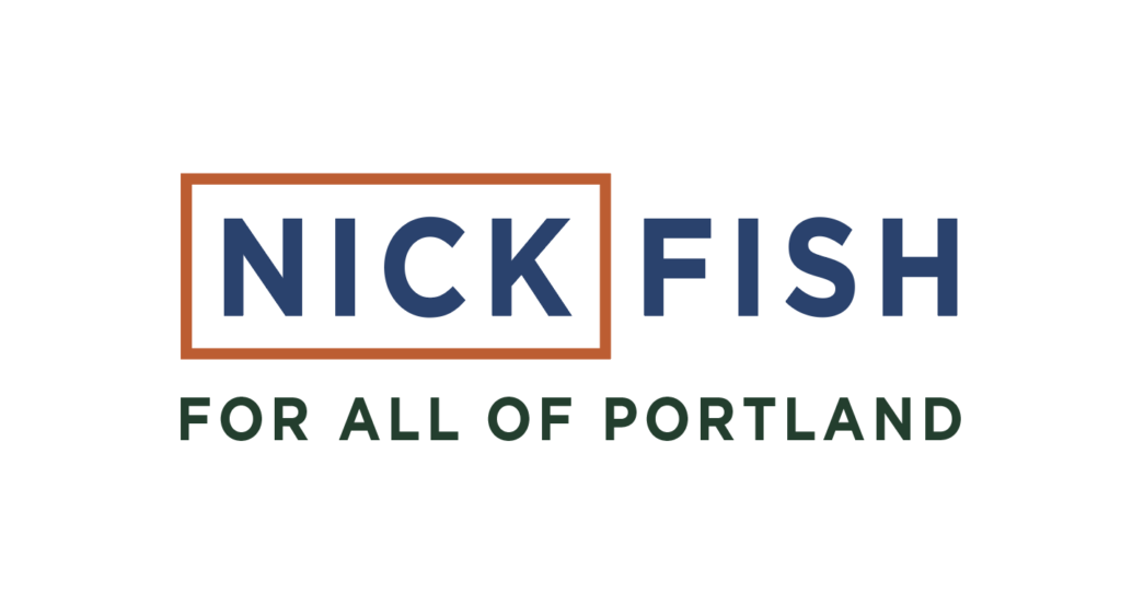 Nick Fish for Portland logo (Matt Giraud, Gyroscope Creative)