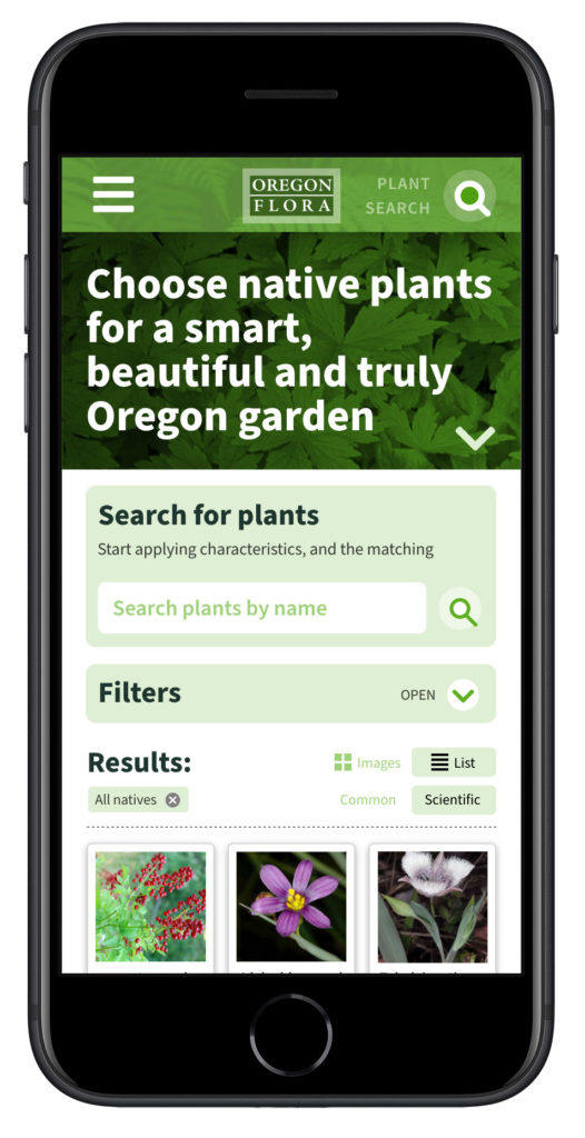 Oregon Flora Grow Natives - mobile (Matt Giraud, Creative Director, Gyroscope Creative)