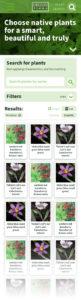 Oregon Flora Grow Natives page - mobile (Matt Giraud, Creative Director, Gyroscope Creative)